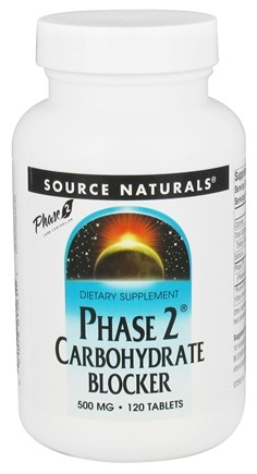 Source Naturals - Phase 2 Carbohydrate Blocker 500 mg. - 120 Tablets