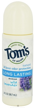 DROPPED: Tom's of Maine - Natural Deodorant Roll-On Long-Lasting Wild Lavender - 3 oz.