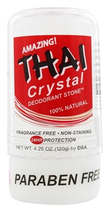 Thai Deodorant Stone - Thai Natural Crystal Deodorant Stick - 4.25 oz.