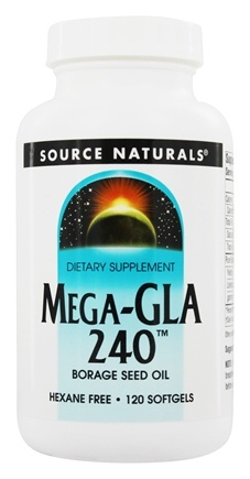 DROPPED: Source Naturals - Mega-GLA 240 Borage Seed Oil 240 mg. - 120 Softgels