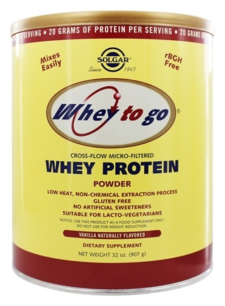 Solgar - Whey To Go Protein Powder Natural Vanilla - 32 oz.