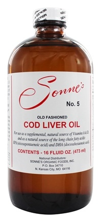 Sonne's - Old Fashioned Cod Liver Oil #5 - 16 oz.