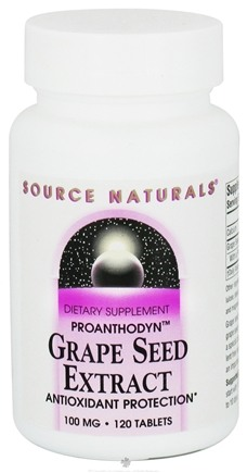 DROPPED: Source Naturals - Grape Seed Extract Proanthodyn 100 mg. - 120 Tablets