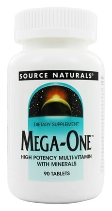 Source Naturals - Mega-One Multiple - 90 Tablets Formerly Mega-Vite 85