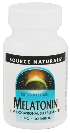 DROPPED: Source Naturals - Melatonin 1 mg. - 100 Tablets