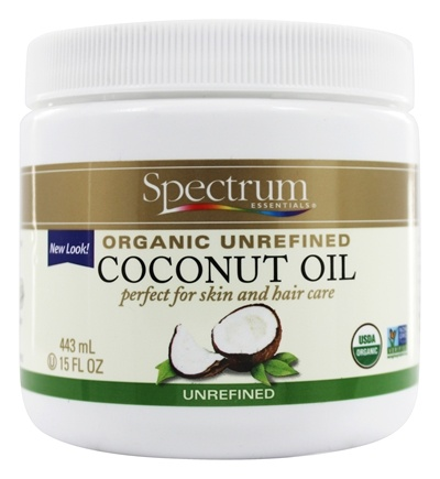 Spectrum Essentials - Organic Coconut Oil Unrefined - 15 oz.