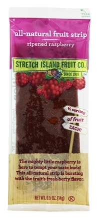 Stretch Island Fruit - All-Natural Fruit Strip Ripened Raspberry - 0.5 oz. Formerly Original Fruit Leather