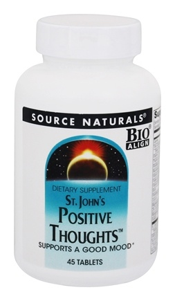 DROPPED: Source Naturals - St. John's Positive Thoughts - 45 Tablets CLEARANCED PRICED