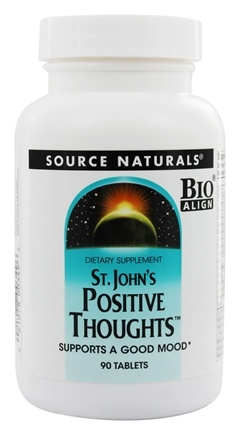 Source Naturals - Saint John's Positive Thoughts - 90 Tablets