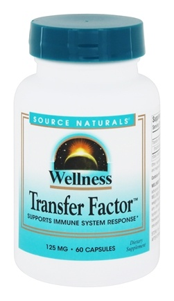 Source Naturals - Wellness Transfer Factor 125 mg. - 60 Capsules