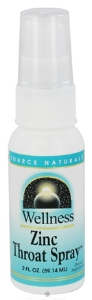 DROPPED: Source Naturals - Wellness Zinc Throat Spray - 2 oz. CLEARANCE PRICED
