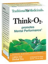 DROPPED: Traditional Medicinals - Think O2 Tea - Promotes Mental Performance - 16 Tea Bags