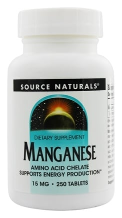 Source Naturals - Manganese Amino Acid Chelate 15 mg. - 250 Tablets