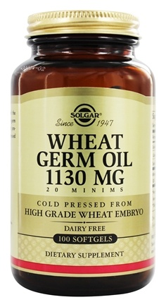 Solgar - Wheat Germ Oil Cold Pressed 1130 mg. - 100 Softgels