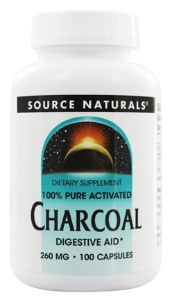 Source Naturals - 100% Pure Activated Charcoal 260 mg. - 100 Capsules