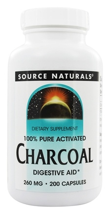 Source Naturals - 100% Pure Activated Charcoal 260 mg. - 200 Capsules