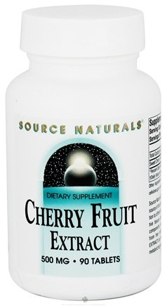 DROPPED: Source Naturals - Cherry Fruit Extract 500 mg. - 90 Tablets CLEARANCE PRICED