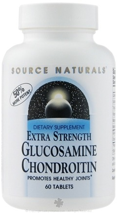 DROPPED: Source Naturals - Glucosamine Chondroitin Extra Strength - 60 Tablets CLEARANCE PRICED
