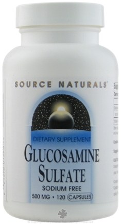 DROPPED: Source Naturals - Glucosamine Sulfate Sodium-Free 500 mg. - 120 Capsules CLEARANCE PRICED