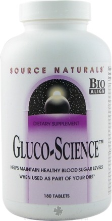 DROPPED: Source Naturals - Gluco-Science - 180 Tablets CLEARANCE PRICED