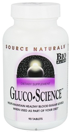 DROPPED: Source Naturals - Gluco-Science - 90 Tablets