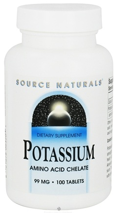 DROPPED: Source Naturals - Potassium Amino Acid Chelate 99 mg. - 100 Tablets
