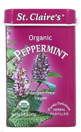St. Claire's Organics - Organic Breath Mints Peppermint - 1.5 oz.