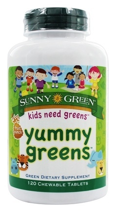 Sunny Green - Yummy Greens Fruit Punch - 120 Chewable Tablets