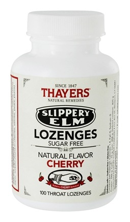 Thayers - Slippery Elm Lozenges Sugar-Free Cherry - 100 Lozenges