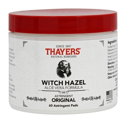 Thayers - Witch Hazel Astringent Pads with Aloe Vera - 60 Pad(s)