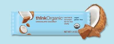 DROPPED: Think Products - thinkOrganic Fruit & Nut Bar Chocolate Coconut - 1.4 Bars