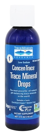 Trace Minerals Research - ConcenTrace Trace Mineral Drops - 4 oz.