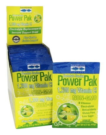 Trace Minerals Research - Electrolyte Stamina Power Pak Lemon Lime - 32 Packet(s)