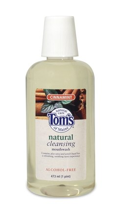 DROPPED: Tom's of Maine - Natural Cleansing Fluoride Free Mouthwash Cinnamint - 16 oz.