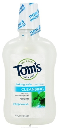 DROPPED: Tom's of Maine - Natural Cleansing Mouthwash Baking Soda Peppermint - 16 oz.
