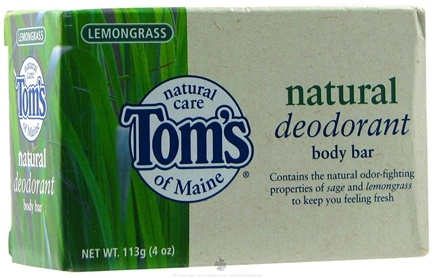 DROPPED: Tom's of Maine - Natural Deodorant Body Bar Lemongrass - 4 oz.