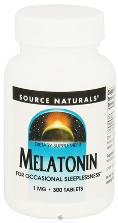 DROPPED: Source Naturals - Melatonin 1 mg. - 300 Tablets CLEARANCE PRICED