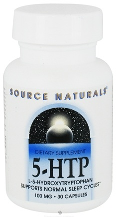 DROPPED: Source Naturals - 5-HTP L-5 Hydroxytryptophan 100 mg. - 30 Capsules