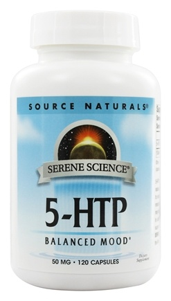 Source Naturals - 5-HTP L-5 Hydroxytryptophan 50 mg. - 120 Capsules