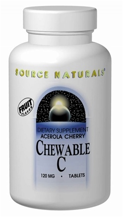 DROPPED: Source Naturals - Acerola Chewable C Cherry Flavor 500 mg. - 100 Chewable Tablets