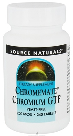 DROPPED: Source Naturals - ChromeMate Chromium GTF Yeast-Free 200 mcg. - 240 Tablets CLEARANCE PRICED
