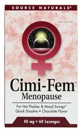 DROPPED: Source Naturals - Cimi-Fem Menopause Sublingual Chocolate 40 mg. - 60 Tablets