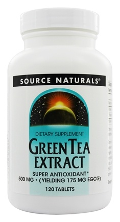Source Naturals - Green Tea Extract 500 mg. - 120 Tablets