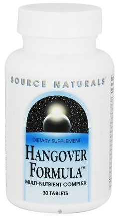 DROPPED: Source Naturals - Hangover Formula Multi-Nutrient Complex - 30 Tablets