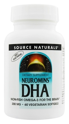 DROPPED: Source Naturals - Neuromins DHA 200 mg. - 60 Vegetarian Softgels