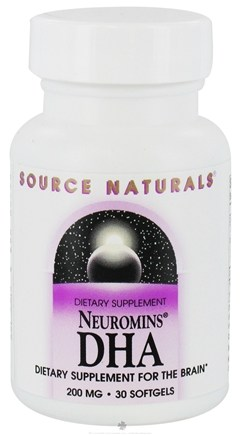 DROPPED: Source Naturals - Neuromins DHA 200 mg. - 30 Vegetarian Softgels CLEARANCE PRICED