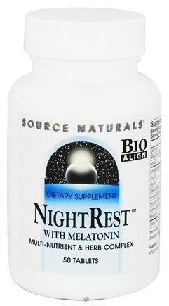 DROPPED: Source Naturals - Night Rest With Melatonin - 50 Tablets CLEARANCE PRICED