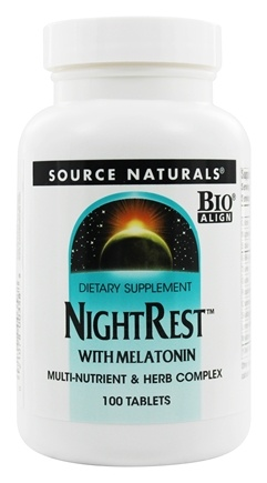 Source Naturals - Night Rest With Melatonin - 100 Tablets
