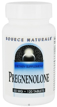 DROPPED: Source Naturals - Pregnenolone 50 mg. - 120 Tablets