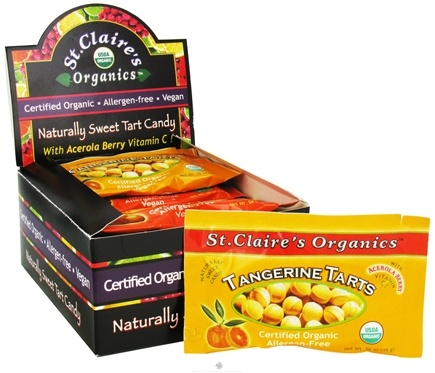 DROPPED: St. Claire's Organics - Naturally Sweet Tangerine Tarts - 0.56 oz. CLEARANCE PRICED